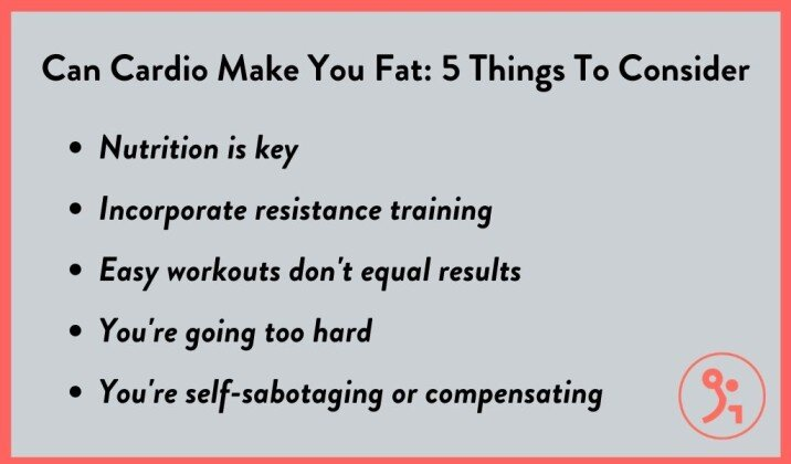 What do you need to consider if you're not losing weight doing cardio?