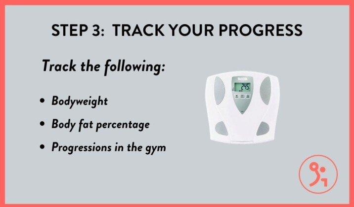 Track your progress as you bulk