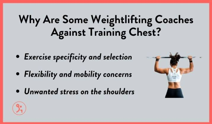 Some weightlifting coaches don't think you should train chest
