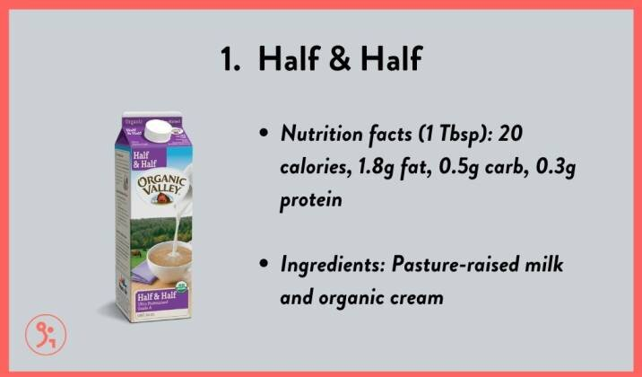 best creamer substitute for non carb diet