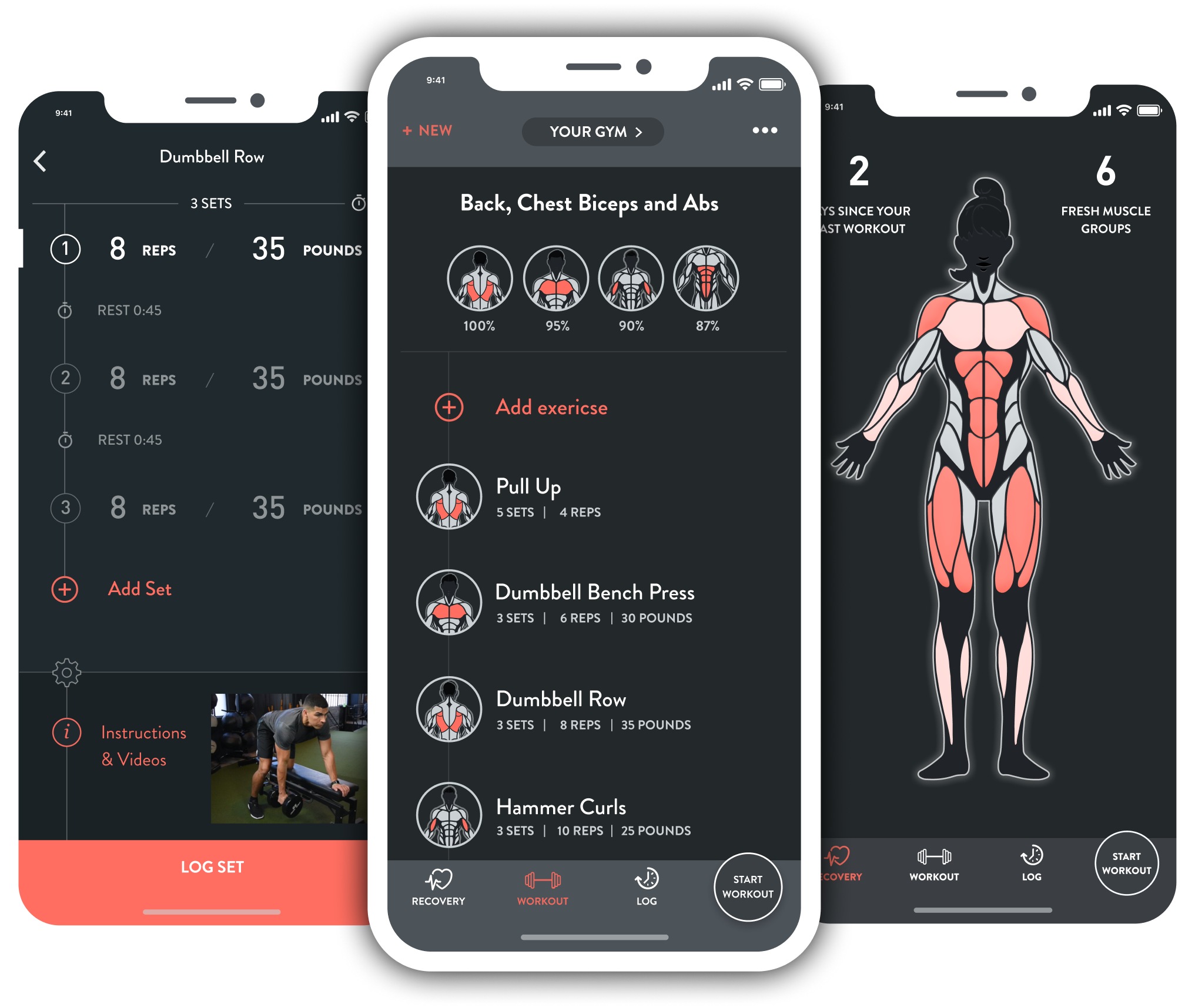 A smarter workout - Fitbod's advanced machine learning algorithm studies your performance and automatically scales your workouts as you progress.