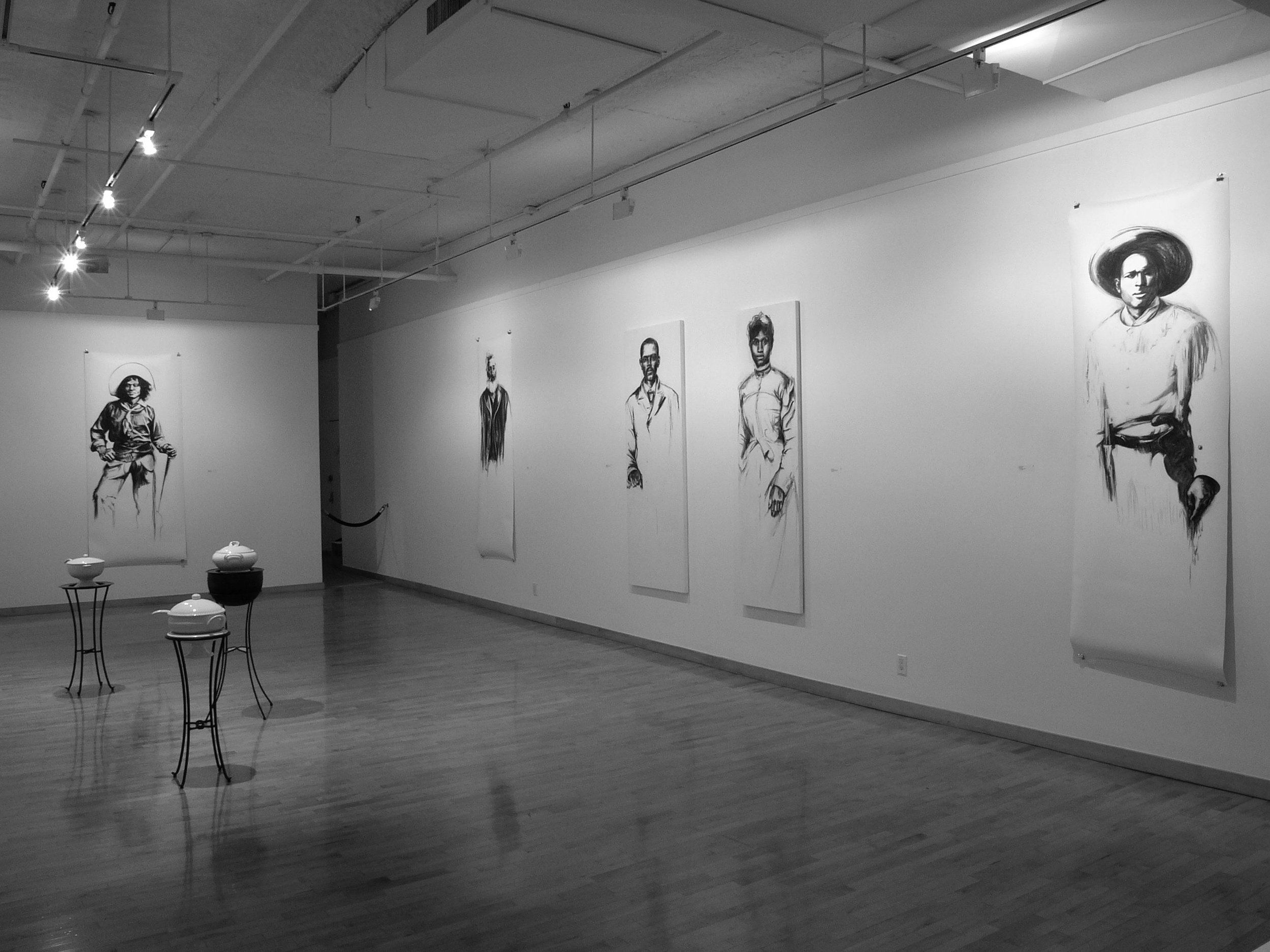 18 somewhere listening, 2005, installation view, June Kelly Gallery, NYC.jpg