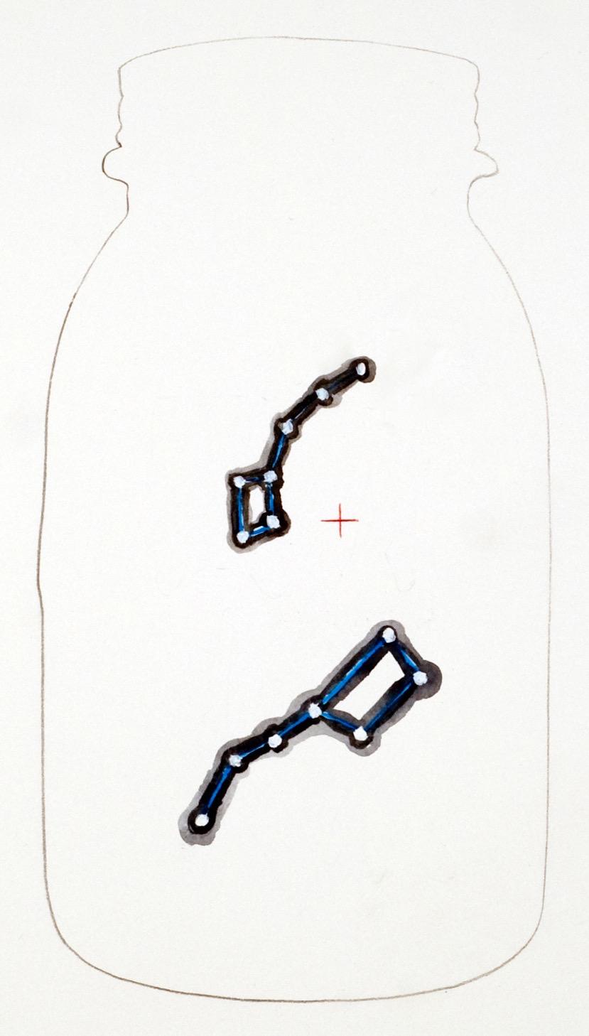 patoka hill 19, 2012  graphite, gouache and color pencil on paper  12 x 12 inches