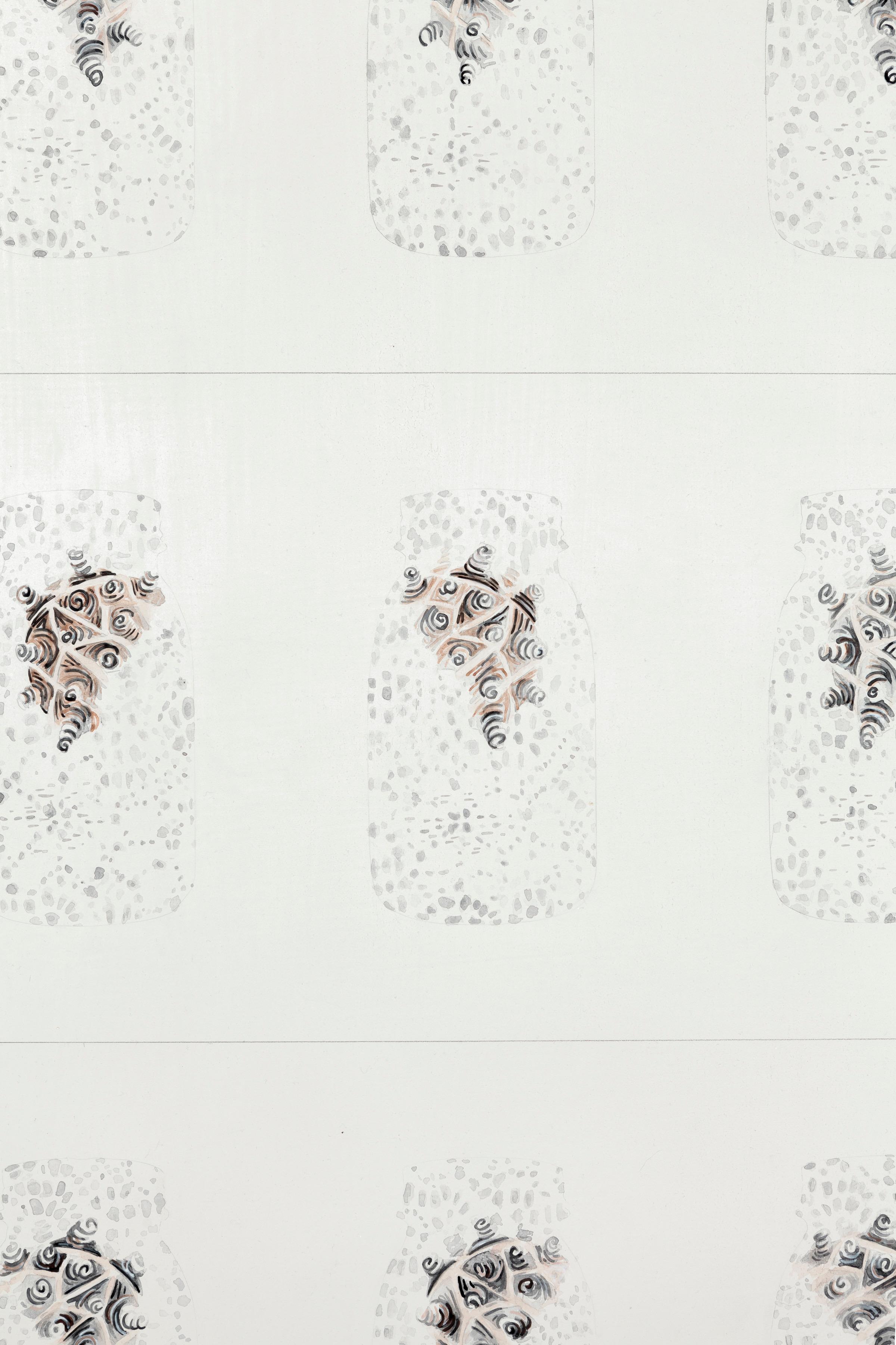 mattoon 14, 2014 (detail)  gouache, ink, graphite, absorbent ground on birch  36 x 36 inches