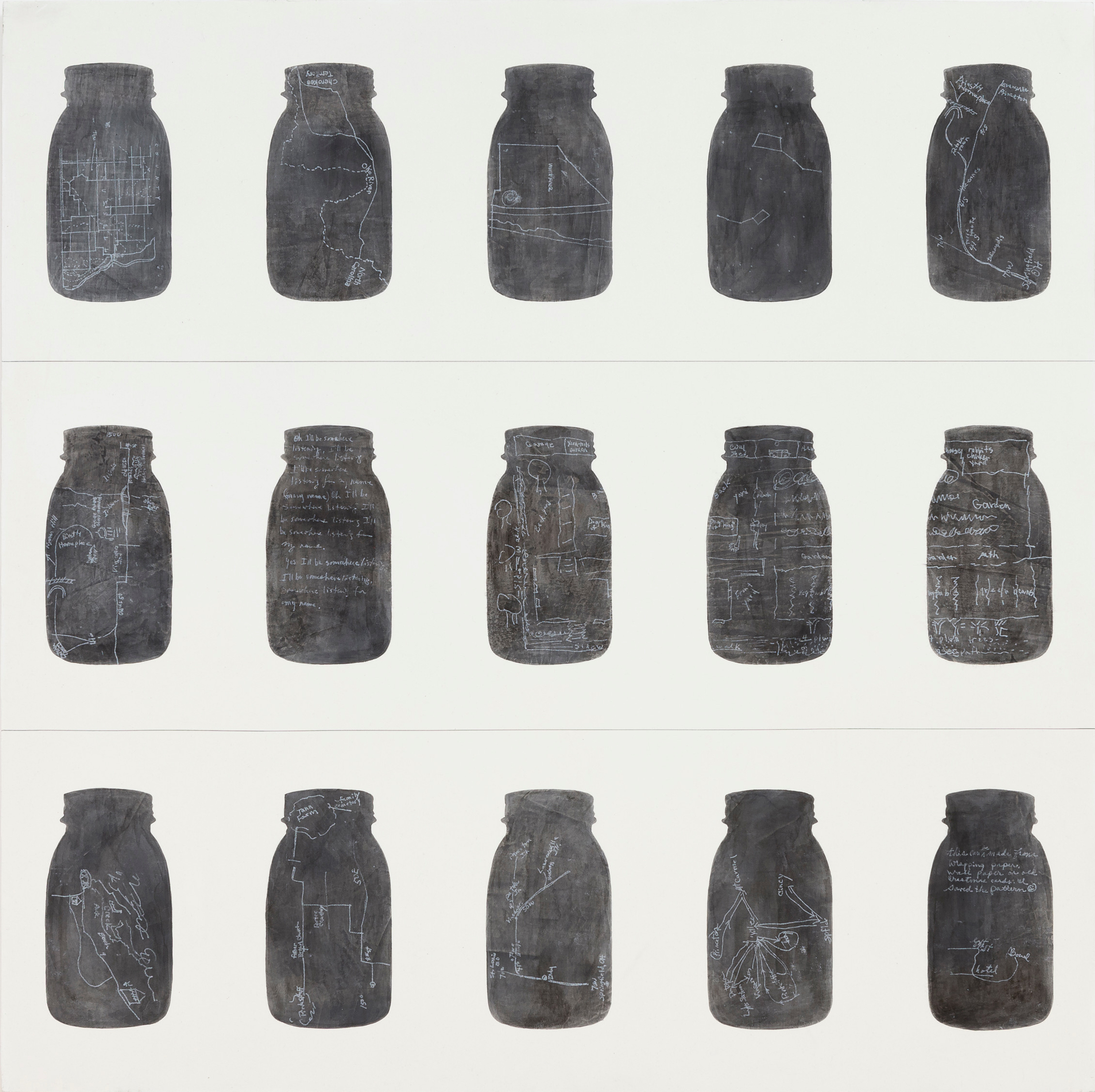 mattoon 16, 2014  ink, acrylic, graphite, chalk, absorbent ground on birch  36 x 36 inches