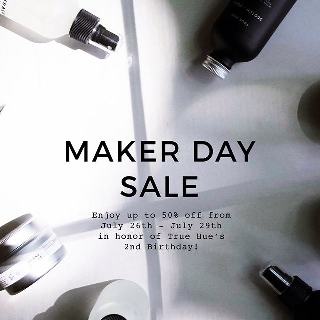 Today is the start to our biggest sale ever! Our Maker Day Sale is in celebration of True Hue's second birthday on July 29th. There are some serious steals in this sale so make sure to grab something for you, a friend , and maybe a few more for you! Sale details are as follows.  NORTH COLLECTION - 4 oz Candles $12.00 SALE $8.00 - 8 oz Candles $24.00 SALE $18.00 - 16 oz CANDLES $28.00 SALE $14.00 - 4 oz Reed Diffusers $22.00 SALE $17.00 - 4 oz Room / Linen Sprays $14.00 SALE $10.00  SIGNATURE COLLECTION - 8 oz candles $18.00 SALE $14.00 - Reed Diffusers $22.00 SALE $17.00 - Room / Linen Sprays $14.00 SALE $10.00 • • • #truehue #homefragrances #minneapolis #mnmade #minimal #packagingdesign #scandinaviandesign #homeproducts #sale