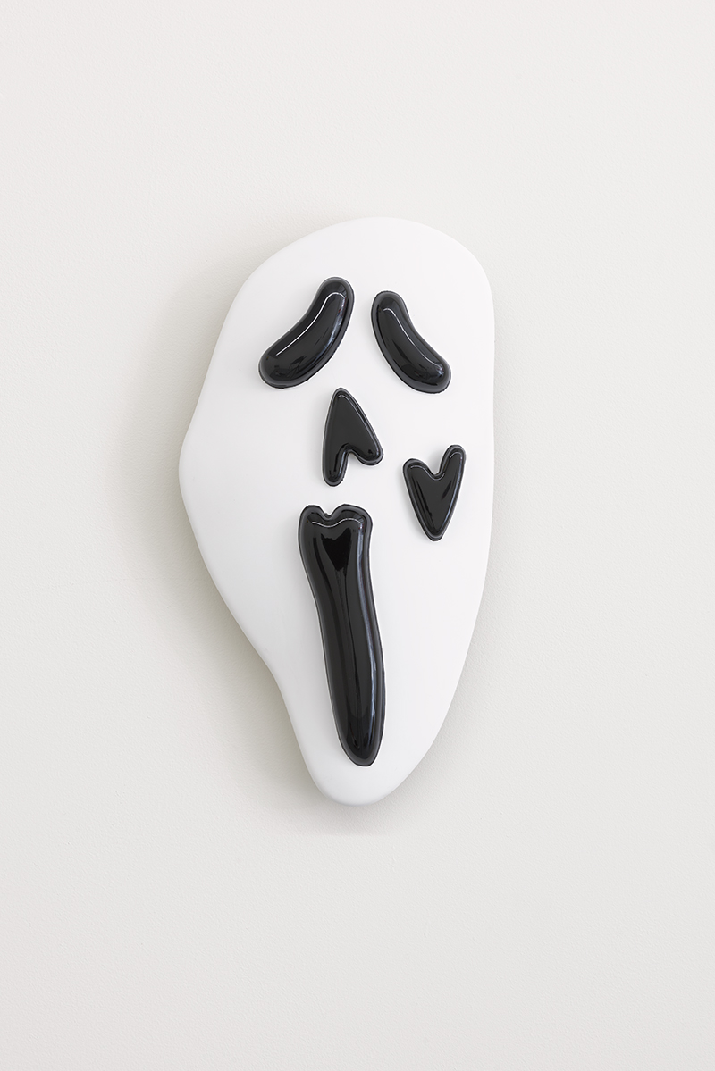 """The Scream 2.0.  Painted formed plastic, 7.7"""" x 14.51"""" x 2"""", 2018."""