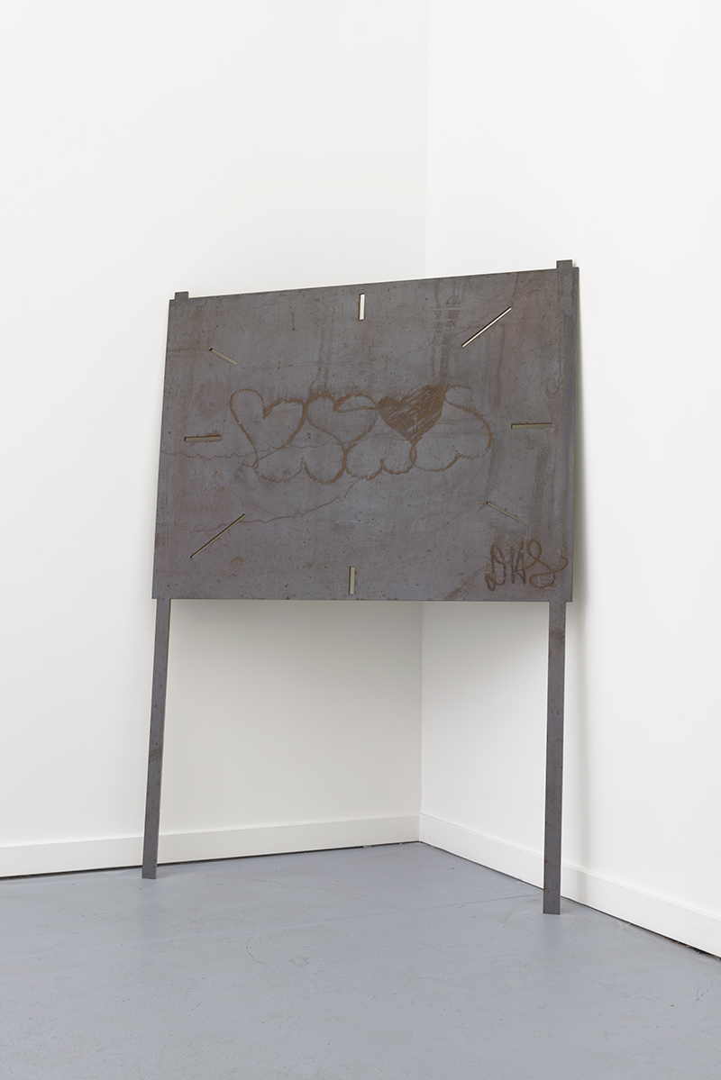 Oasis. Corten Steel, 38 x 50 x .25 inches, 2018.