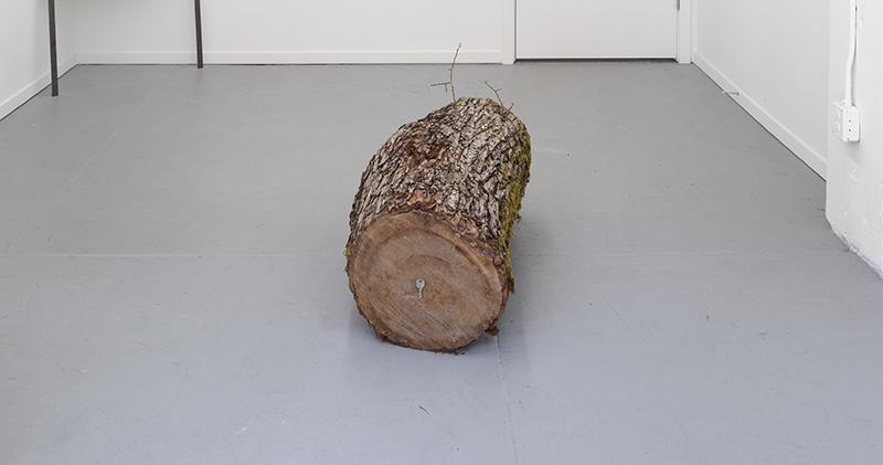 Skeleton Woman. Tree, key, 45 x 17 x 20 inches, 2018.