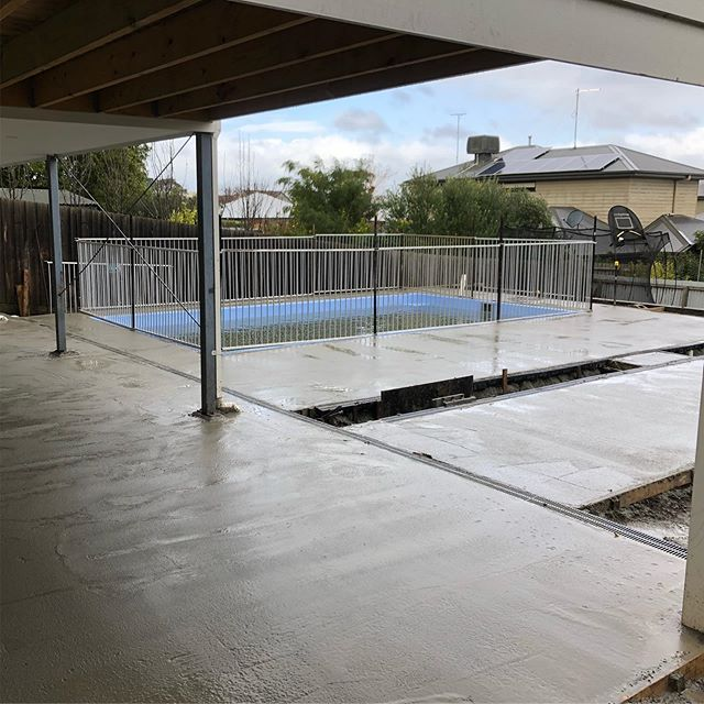 Today was one of those days I've been looking forward to being done. Enjoyed the process but doing a 16m3 concrete pour for underpaving is right on our limit.  Great to be reducing the amount of dirt and mud on site. Paving starts out the front tomorrow! 😀 #newtown #landscaping #InStyle #Gardens #concreting #16cubes #pumpit #paving #landscapinggeelong #landscapedesign #landscapingvictoria #masterlandscaper #registeredbuildingpractitioner #cramps #concsoutgunsout #conc #screeting