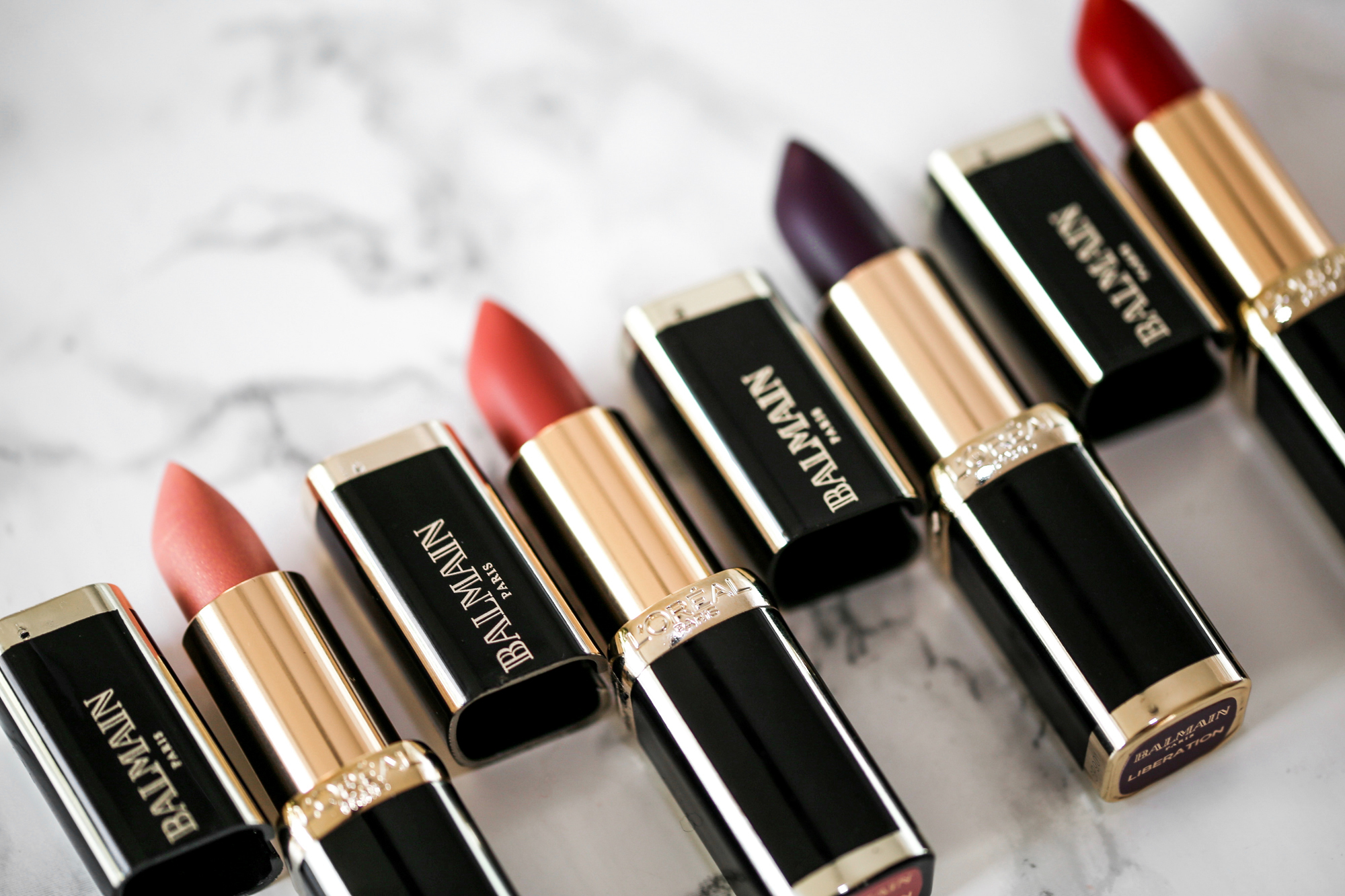 L'Oreal X Balmain Couture LIPSTICK collection - Confidence, Liberation, Domination, Confession Swatches-2075.JPG