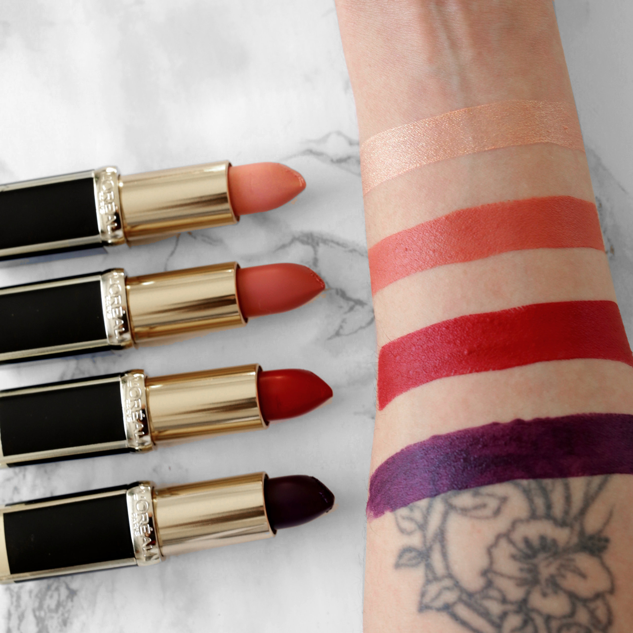 L'Oreal X Balmain Couture LIPSTICK collection - Confidence, Liberation, Domination, Confession Swatches-2082.JPG