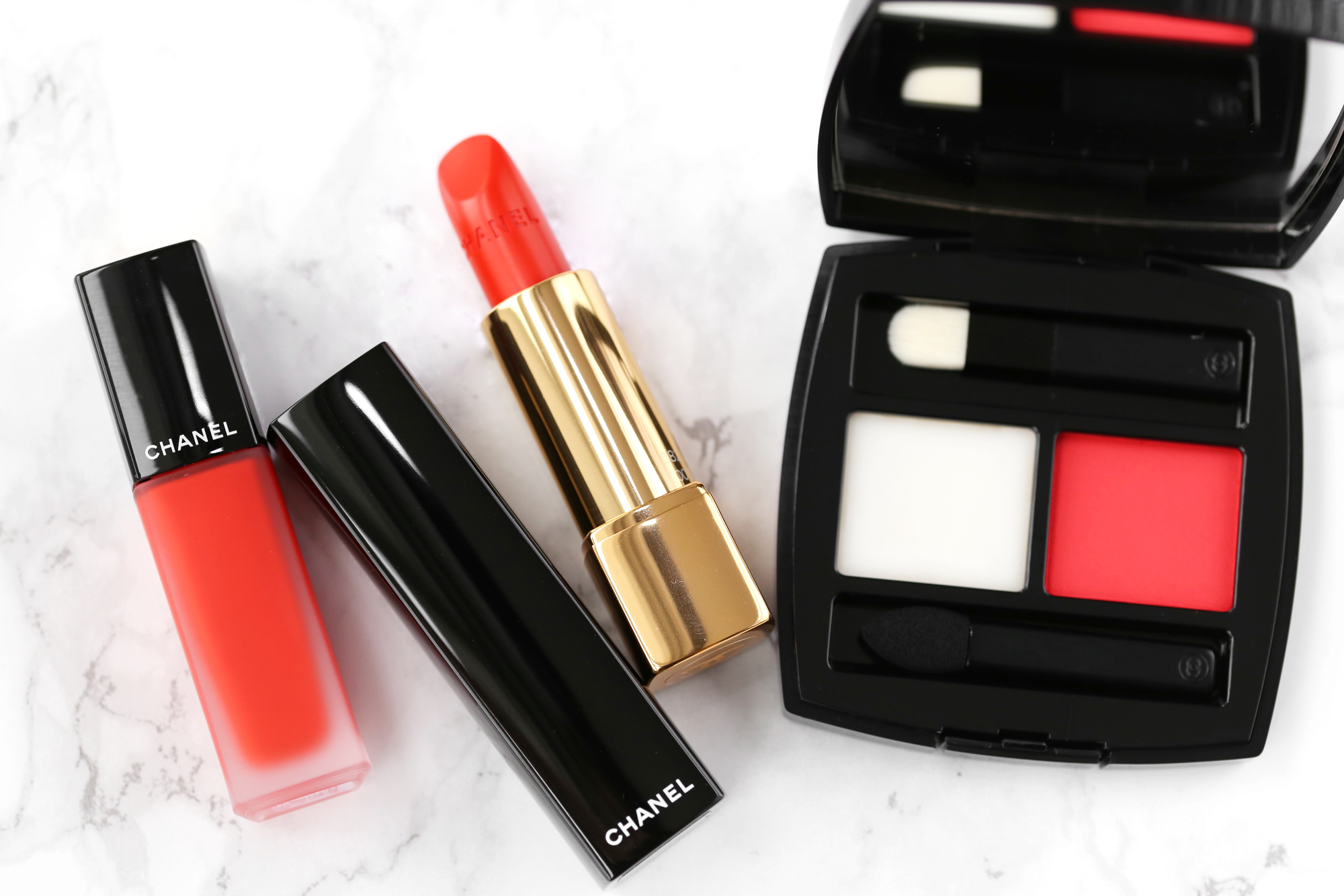 CHANEL POUDRE À LÈVRES LIP BALM AND POWDER DUO in ROSSO POMPEIANO, NAIL POLISH in 634 ARANCIO VIBRANTE, ROUGE ALLURE LUMINOUS INTENSE LIP COLOUR in 182 VIBRANTE, ROUGE ALLURE INK MATTE LIQUID LIP COLOUR in 164 ENTUSIASTA-lipsick.me_6286.jpg