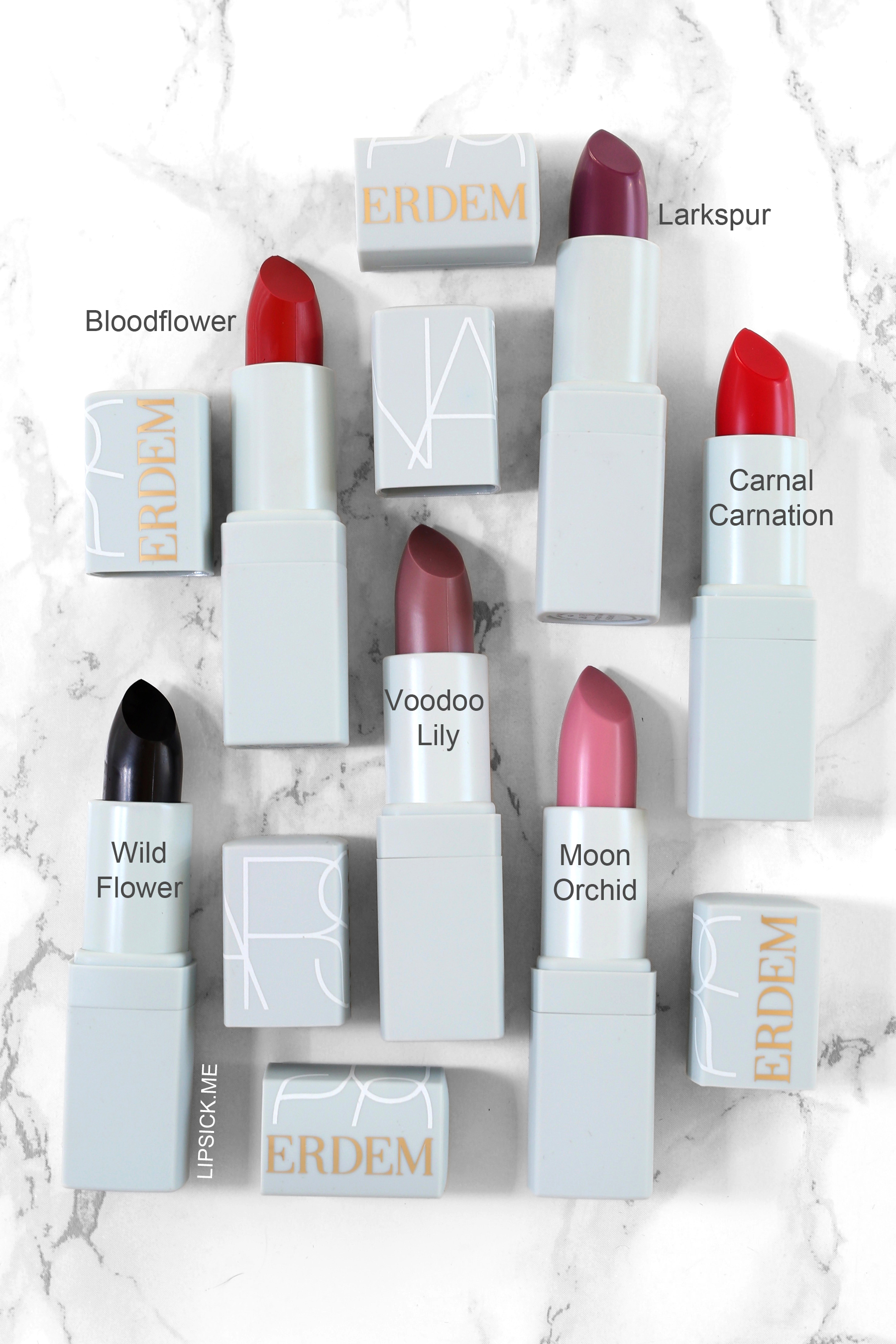 NARS x Erdem Full Lipstick Collection - Carnal Carnation, Bloodflower, Wild Flower, Moon Orchid, Larkspur, Voodoo Lily - copy.jpg