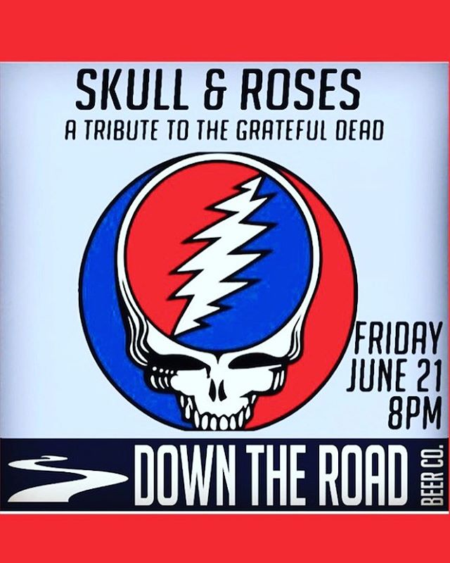 @skullandrosesne will be at Down the Road this Friday!!!! Make sure to come check them out, doors open at 7pm 🤘🎤 #beer #craftbeer #brewery #brewing #rock #rockmusic #livemusic #band