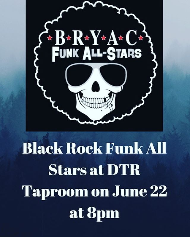 This Saturday June 22 Black Rock Funk Allstars will be playing at the DTR Taproom!! Doors open at 7pm 🎤  #everett #beer #craftbeer #music #livemusic #rock #rockmusic #localbeer