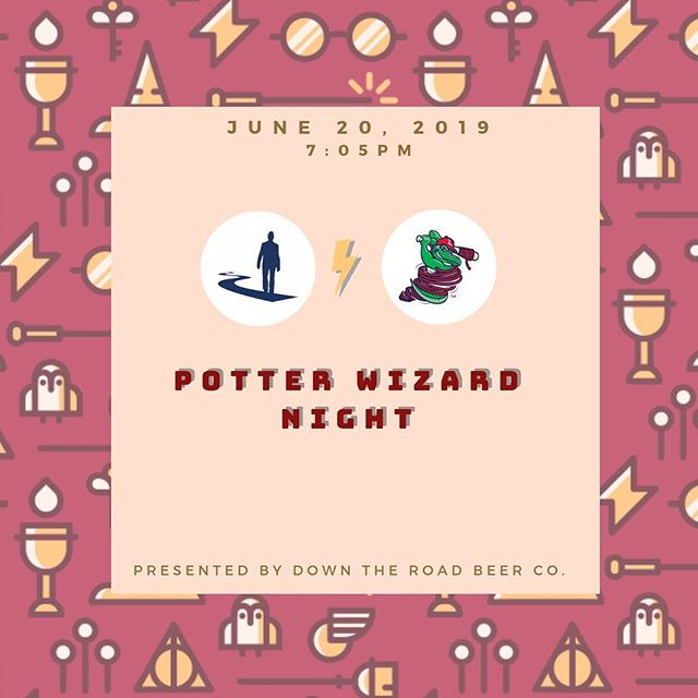 TONIGHT 7:05pm, the Lowell Spinners ⚾️ game at LeLacheur Park: Bring your wands and robes & show your Harry Potter ⚡️ knowledge with trivia and receive a Hogwarts diploma! AND meet our brewers, try samples of DTR beer and learn the process of how we create your favorite beer🍻