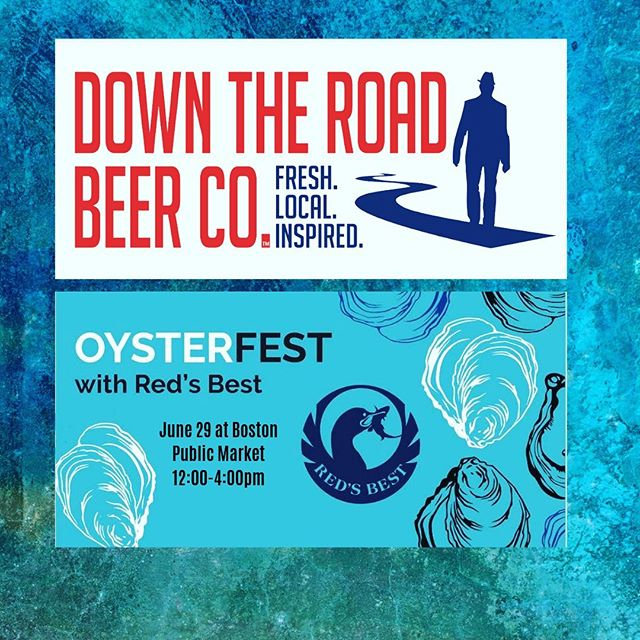 Down the Road will be featured this Saturday at the Public Market Oyster Fest from 12-4pm!!! Be sure to swing by as we might have some cans of Sam Sam with us #boston #everett #bostonpublicmarket #beer #oyster #local #craftbeer #alcohol