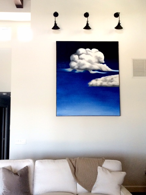 Clouds - Commissioned by a local Interior Designer for her client in Sarasota, FL, oil paint on 60x72 canvas.2016