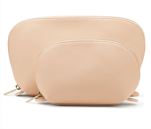 cuyana.com  / Leather Travel Case Set (Made in Argentine) $110
