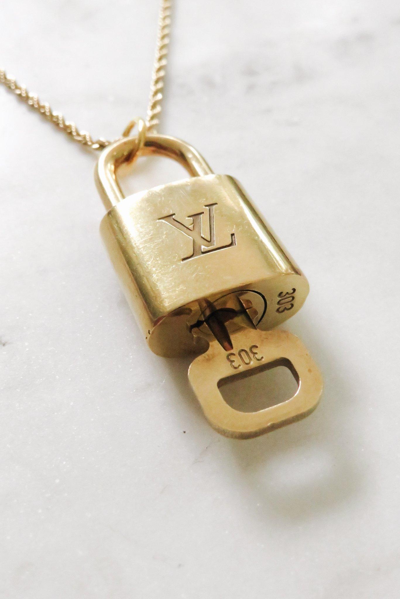 Louis Vuitton Lock Necklace.JPG