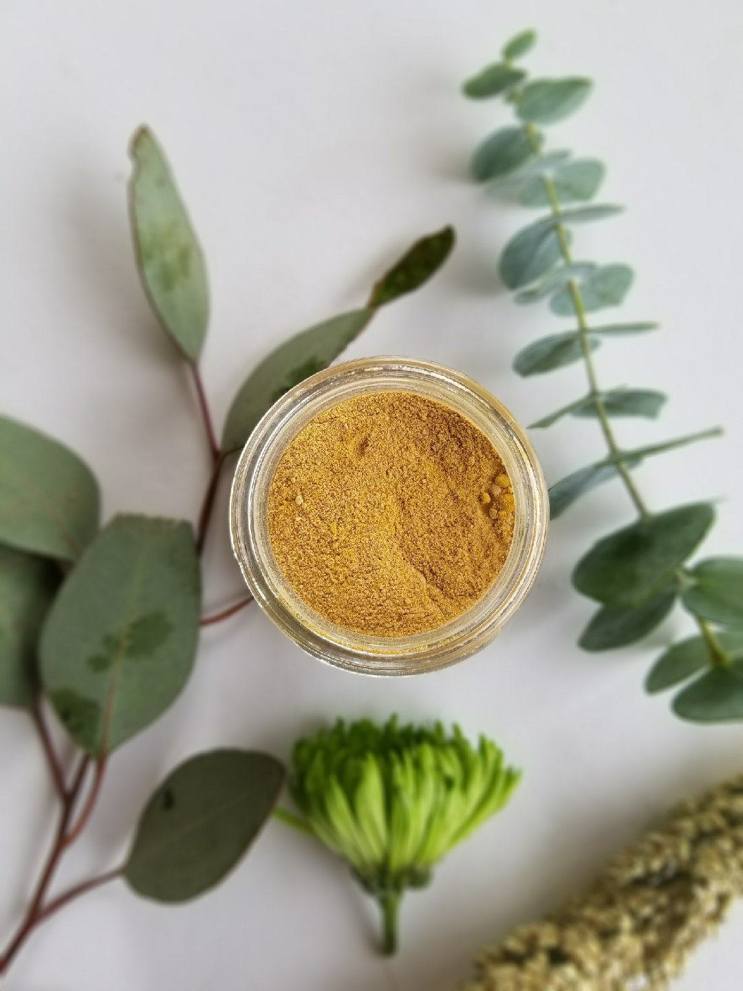No. 36 Turmeric and Honey Facial Mask - Turmeric's antiseptic, anti-inflammatory, antibacterial, anti-fungal, and anti-viral properties help with various skin problems relating to inflammation, clogged pores, redness, uneven skin tone, and facial hair growth.Ingredients: turmeric powder*, honey powder,* bentonite clay,* chamomile flower powder,* tea tree oil*, & ylang ylang oil**organic