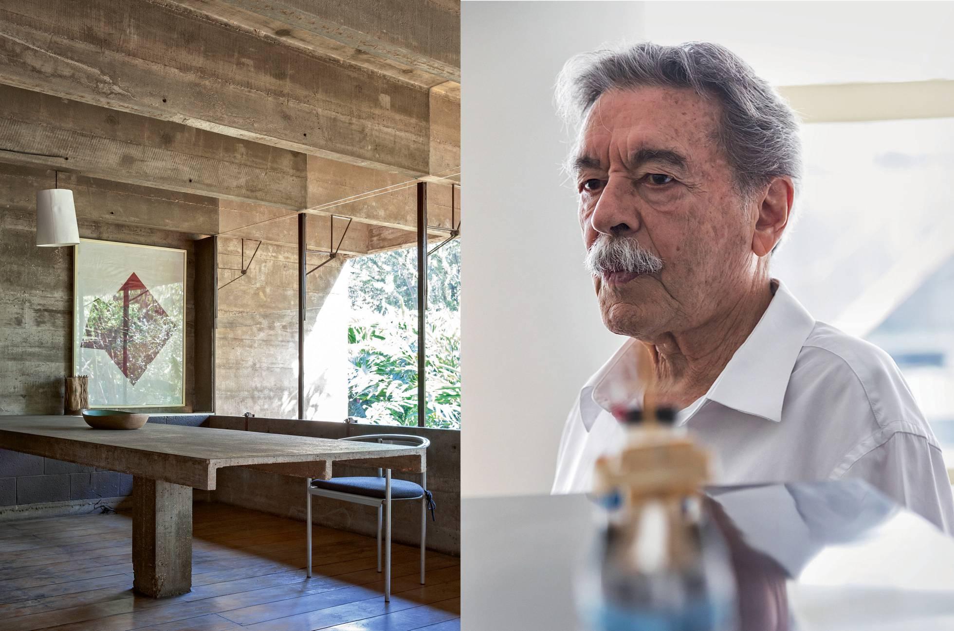 Una  de las estancias de la casa que Mendes da Rocha construyó para él mismo  y su familia en 1964, en Butantã (São Paulo), y en la que vivió más de  30 años. Ruy Teixeira