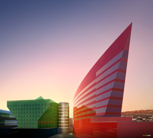 """Red building"" California, USA"