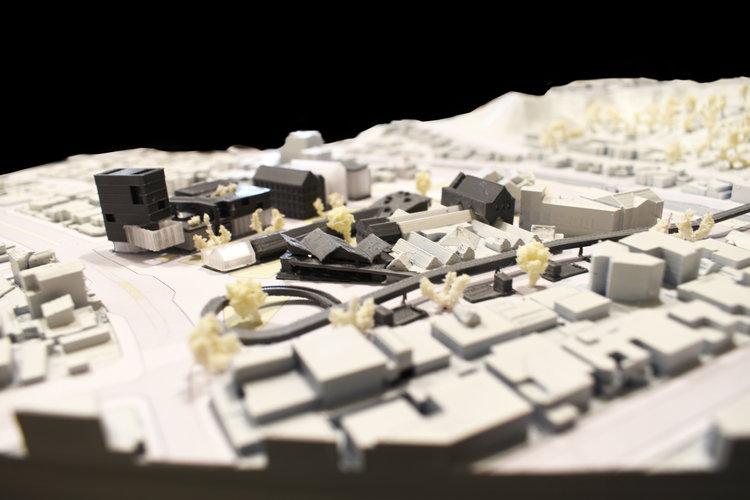 Centralidad Achumani - modelo a escala // Cortesía Gallardo / Costa du Rels, Oficina de Arquitectura