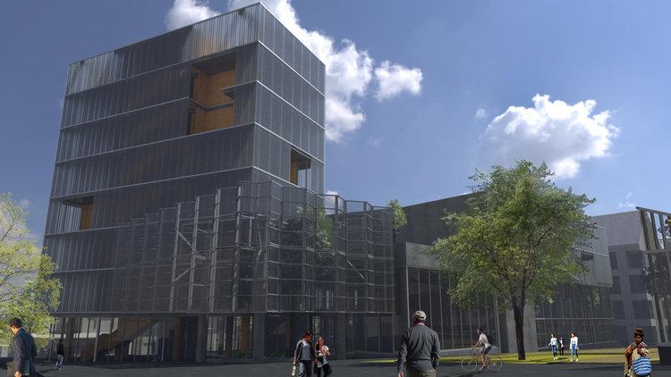 Centralidad Achumani - interpretación artística // Cortesía: Gallardo-Costa du Rels, Oficina de Arquitectura