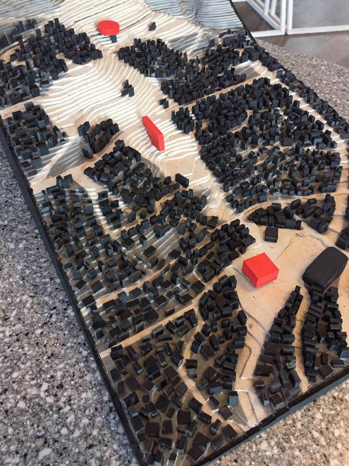 Centralidad Tembladerani - Modelo a escala // Cortesía: Laboratorio Urbano