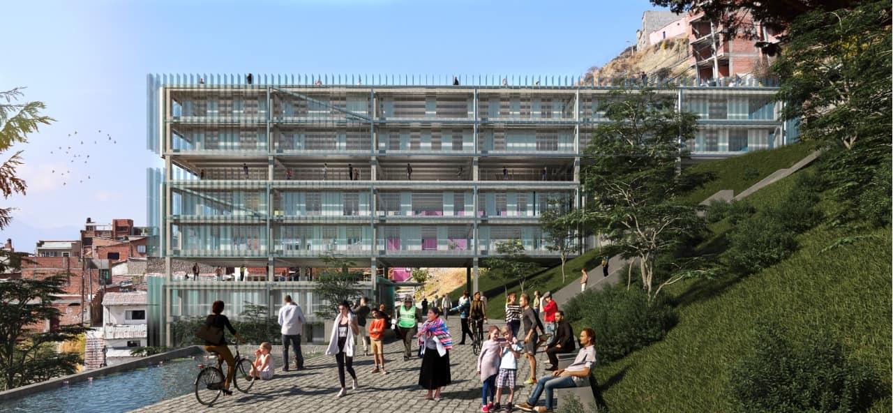 Centralidad Tembladerani - Representación artística // Cortesía: Laboratorio Urbano