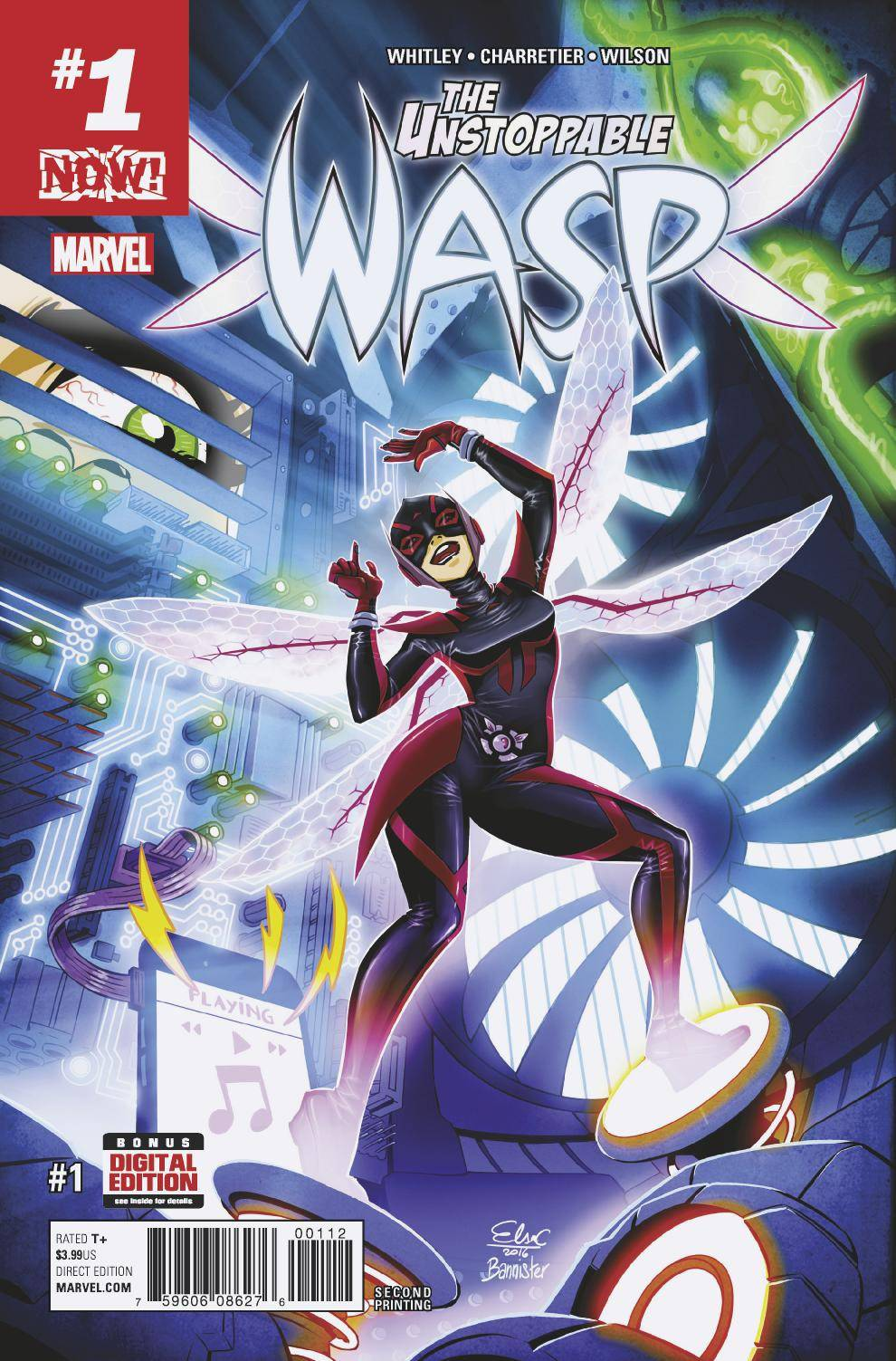 The Unstoppable Wasp #1 - Sarah's PickUnstoppable Wasp by writer Jeremy Whitley and artist Elsa Charretier: Nadia Pym has come to America fresh from being trained as an assassin in the Red Room. After a day with Ms. Marvel and Mockingbird, Nadia has decided to gather up the brightest young women around to form G.I.R.L.: Genius In action Research Labs. Each single issue ends with interviews with real life female scientists and the kinds of things that inspired them to go into the STEM fields.