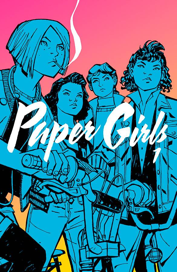 Paper Girls Vol 1 - Sarah's PickFrom writer Brian K. Vaughan and artist Cliff Chiang, in late 80's Cleveland, four young girls are on their paper routes in the early hours, following Halloween night, when the apocalypse seemingly strikes their hometown. Join them in their search to uncover the truth of this mysterious event. Is it aliens? Time travel? WHO KNOWS. Pick it up to find out!*Paper Girls is written for a mature audience. There is a considerable amount of language, mostly used by the young girls. However, I find that this adds to the charm and realness of their characters. They're 12 but they'll mess you up.