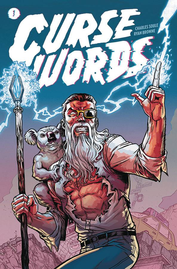 Curse Words Vol 1 - Gib's PickCharles Soule (Writer) and Ryan Browne (Artist) have a new take on the classic Evil-God-Invading-Our-World story in Curse Words.  Sizzajee, the iron fisted ruler of an alternate world, sends Wizord to ready our world for conquering.  Wizord, after experiencing the pleasures of our world, finds it too good to lose and decides to protect us from his Evil Master.  It's fast, fun and even has a sentient Koala in the cast!