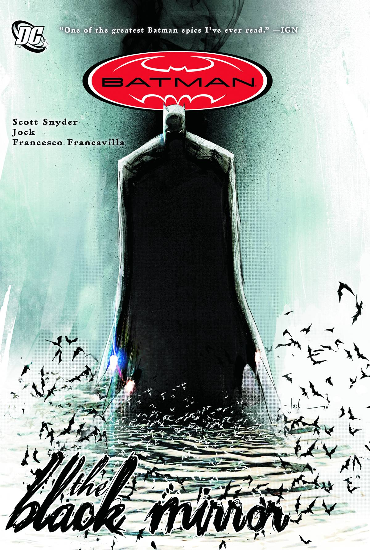 Batman: The Black Mirror TP - Trish's PickIn one of the creepiest and downright darkest Batman tales ever told, writer Scott Snyder tells a tale that is not only Batman's, but Jim Gordon's as well. Dick Grayson, during his brief stint as Batman following the disappearance of Bruce Wayne, struggles to uncover an evil that has emerged from Gotham - an evil more personal to Dick and Commissioner Gordon than any foe they've faced before. With alternating artists delivering the interior art, the cruelty and chaos of Gotham itself is captured by Jock (Wytches) while Francesco Francavilla (Afterlife with Archie) depicts Jim Gordon's story with spectacular colors that change with each scene to dramatically increase creepiness or tension.