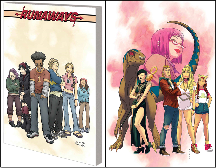 Runaways Complete Collection Vol 1 - Sarah's PickFrom writer Brian K. Vaughan (Saga) and with art by Adrian Alphona (Ms. Marvel), six teenagers discover their parents are super-villains after witnessing a terrifying human sacrifice during their annual