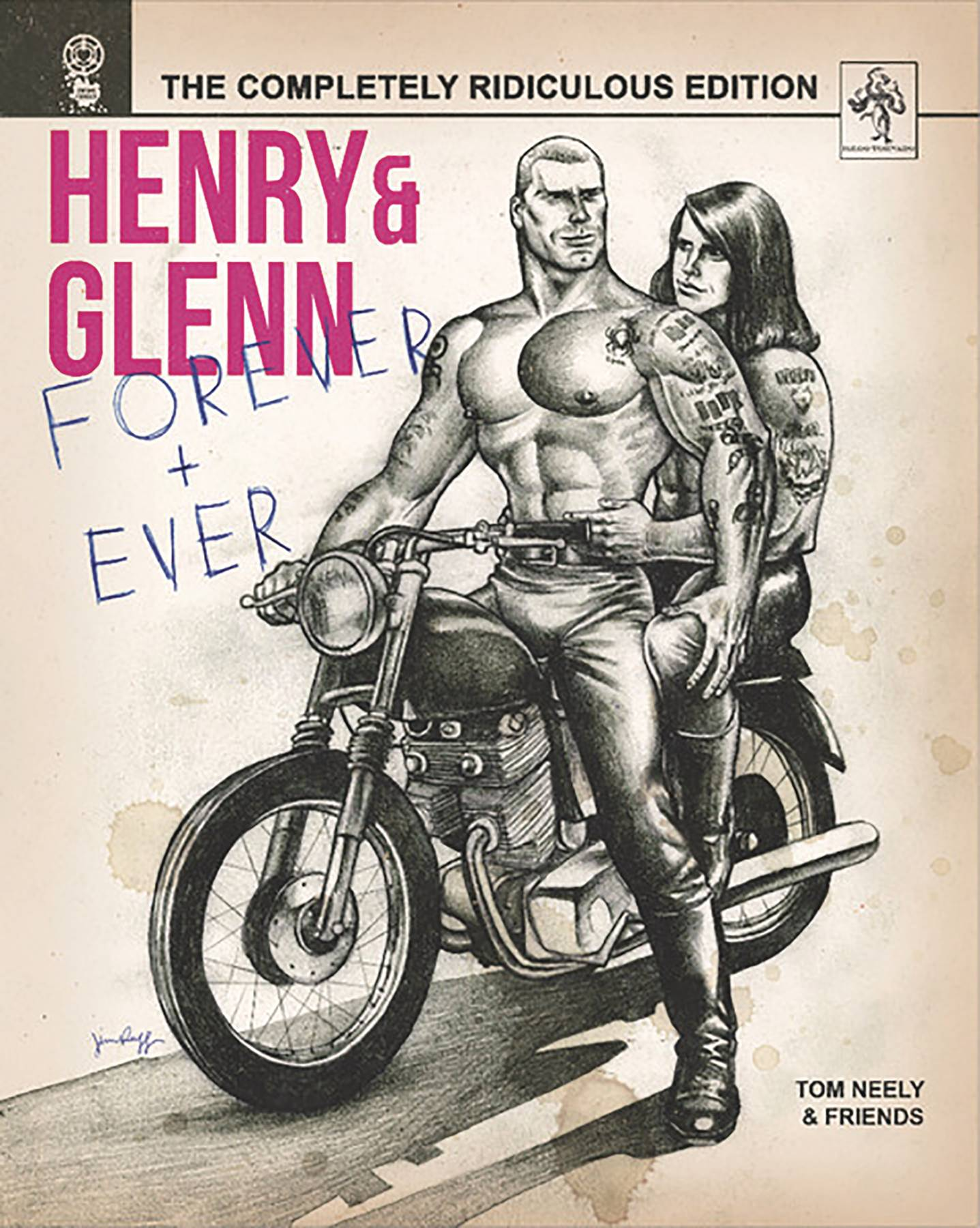 Henry & Glenn Forever and Ever HC: The Completely Ridiculous Edition - Lauren's PickHenry and Glenn are back and better than ever! In these hilarious short stories, Tom Neely (The Humans) and a star-studded list of indie cartoonists imagine the day-to-day routine of obvious true loves Glenn Danzig and Henry Rollins. From poorly considered deals with the devil to inlaw-induced turmoil, Henry and Glenn's relationship finds itself tested at every turn! This new hardcover edition includes never before seen art and stories from creators such as Michael Deforge, Ben Marra, and many more!