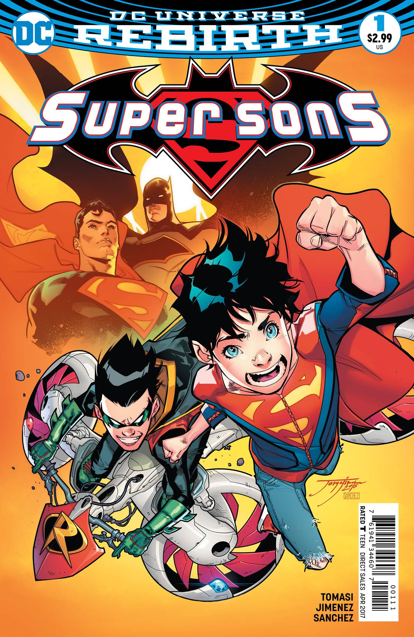 Super Sons #1 - Trish's PickSuper Sons, a new DC series written by Peter Tomasi (Batman & Robin), sees the sons of Batman and Superman themselves reluctantly teaming up and working together despite their vast differences in personality and lifestyle. While DC's books are frequently teeming with angst and the threat of doom looming overhead, Super Sons manages to capture the childish essences of Damian Wayne and Jonathan Kent – a reminder that while these boys are superheroes, they both (yes, even Damian) yearn for the presence of friends. The art by Jorge Jimenez (Earth 2 Society) is energizing and displays the boys with large eyes and gangly figures, adding to the youthful and lively nature of the book. The dialogue between the two boys is entirely endearing with very tongue-in-cheek bickering laced throughout each issue with their developing relationship really at the forefront of the series.