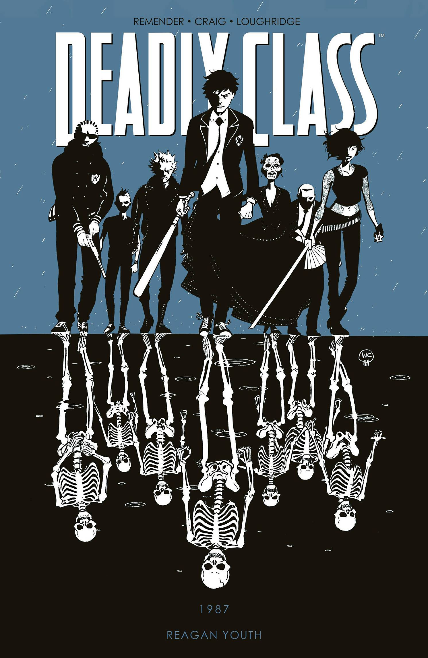 Deadly Class TP Vol 1 - Lauren's PickIt's 1987 and things are not looking awesome for Marcus Lopez Arguello. He's homeless, his parents are dead, and as if things weren't bad enough someone just stole his shoes. If there's one thing he really doesn't need, it's lessons on how to kill people. But that's exactly what he's going to get! Rick Remender (Captain America, Black Science) is in his element channeling his own punk-rock adolescence with admirable assist by artist Wes Craig (Blackhand Comics). However, colorist Lee Loughridge (Wolf) remains the true MVP of this creative team, providing color schemes dramatic enough to match the events of this wild ride.