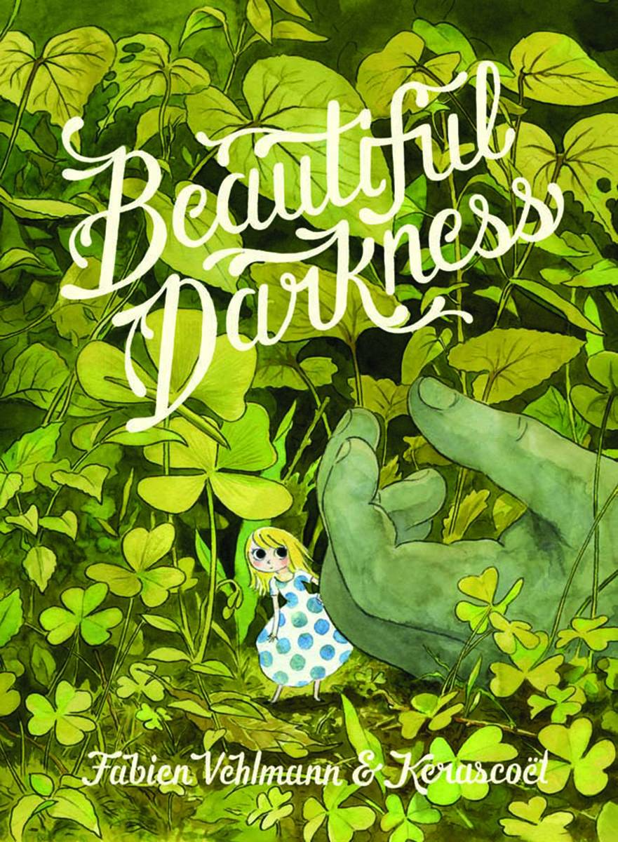 Beautiful Darkness HC - Lauren's PickGorgeous visuals disguise a growing sense of dread in this twisted fairy tale. When princess Aurora and her miniature subjects are forced to abandon their home, new challenges begin to reveal darker sides to the adorable citizens of Aurora's world. Rendered in lush watercolors by artist Kerascoet (Beauty HC), the picturesque woodland environment takes on a new sense of danger and overwhelming scale in the eyes of characters no taller than blades of grass. Challenges mount, personalities clash, and the threat of winter draws ever closer until Aurora is forced into action.Fabien Vehlmann (7 Psychopaths TP) and Kerascoet's Beautiful Darkness offers a bleak thesis on the casual cruelty of nature and (tiny) humans alike, but I guarantee you won't be able to look away!