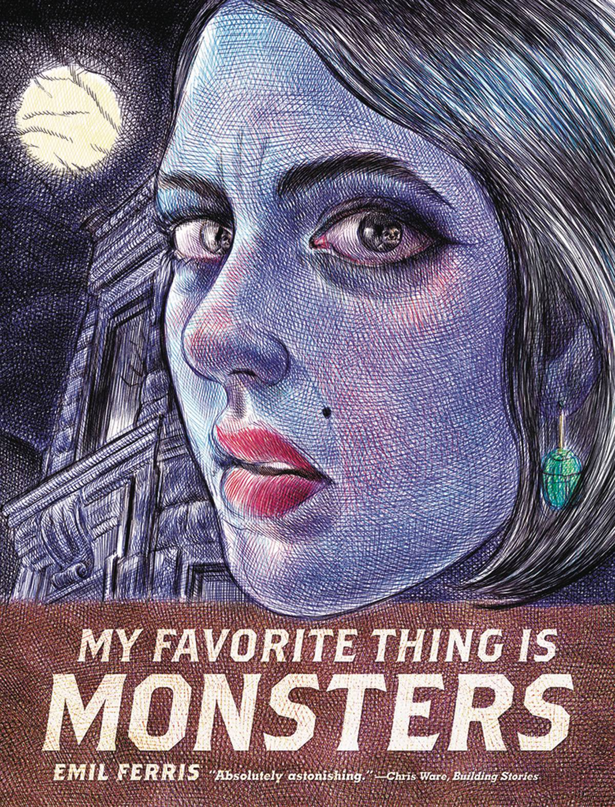 My Favorite Thing is Monsters Vol 1 - Mike's PickEmil Ferris' debut graphic novel is an absolute masterpiece.Eschewing traditional comic book story mechanics, the tale unfolds in the form of a young girl's sketchbook/journal.10-year-old Karen Reyes loves monsters and even imagines herself as a werewolf within the pages of her journal.She draws versions of monster magazine covers that function as chapter breaks for the reader.She's also investigating the murder of her neighbor, a Holocaust survivor, while dealing with family issues and day to day life in Civil Rights era Chicago.The theme of fictional monsters contrasted against real life monsters is cleverly explored in Karen's journal entries.Additionally, the artwork looks to be entirely done in intricate pen and ink.MY FAVORITE THING IS MONSTERS announces a fantastic new talent to the medium.It's easily one of the best books I've read within the last five years.Book one is available now with the concluding volume currently scheduled for an April release.