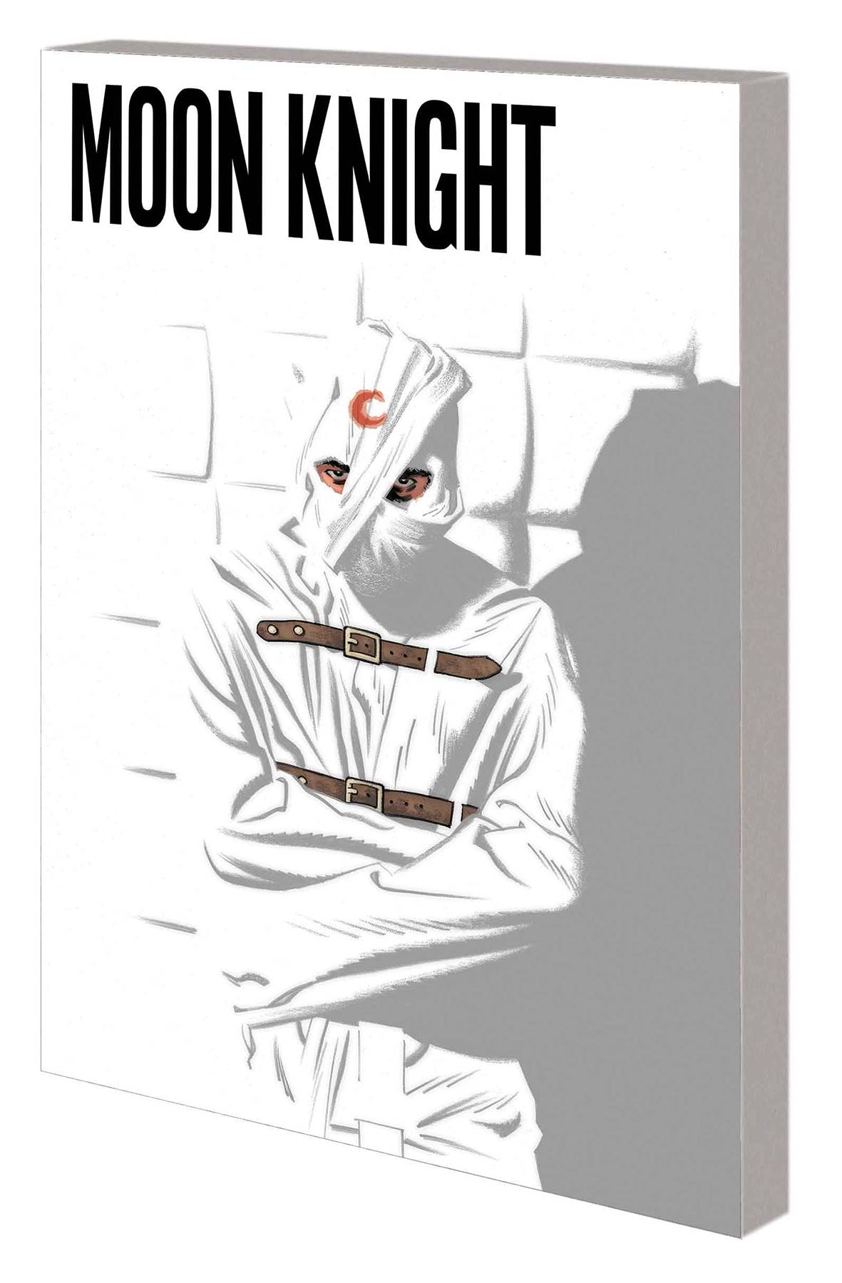 Moon Knight TP Vol 1 - Trish's PickDiverging from the original Moon Knight origin, this story written by Jeff Lemire (Underwater Welder, Descender, Animal Man) spins an entirely new beginning for Marc Spector. The reader first joins Marc in a mental hospital as he struggles to understand his dissociative personality disorder and grasp who he truly is. Hounded by abusive asylum attendants and a skeptical doctor but convinced that one of his personalities is the Moon Knight who fights crime by night, he's consistently told that he has actually been in this asylum for his entire life. The art by Greg Smallwood (Amazing Spider-Man) is what first captured my attention as I've never really been interested in the character before. Not only are there multiple drawing styles depending on Marc's current situation, but the panels themselves are often unconventional and change to convey certain story elements. Because the predominant theme of the story is Egyptian lore, the reader is introduced to many Egyptian gods and creatures that provide unique and stunning visuals from start to finish.