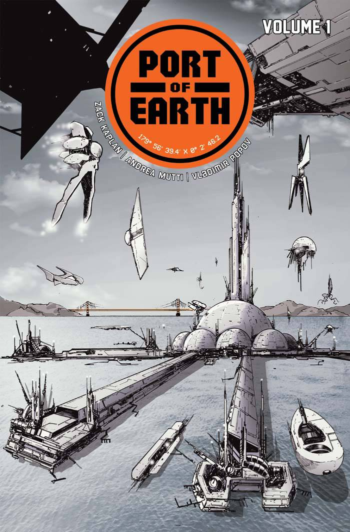 Port of Earth TP - Gib's PickPort of Earth continues the last few year's wealth of great science fiction comics.  Aliens come to Earth, and they want to build a gas station here.  No invasion, no obliteration, just a gas station.  So the Earth gets new energy technology, and the aliens get access to a small area to refuel their ships and are banned from wandering the planet.  Zack Kaplan (Eclipse) then asks all the best questions about the new state of the world.  Who is actually in charge of Earth now?   What repercussions do aliens have to deal when they do leave the port and who do they answer to?  How does the new energy technology affect the world economy?  The first issue follows two members of the Earth Security Agency, tasked with protecting humans and aliens from each other, as they go about their day.  There are three issues so far, and each one has brought more knowledge of this new world, and more questions about what is really going on.  This book is a great read and getting better! The Trade Paperback (collecting issues 1-4) hits shelves on March 14th. We are taking pre-orders now!