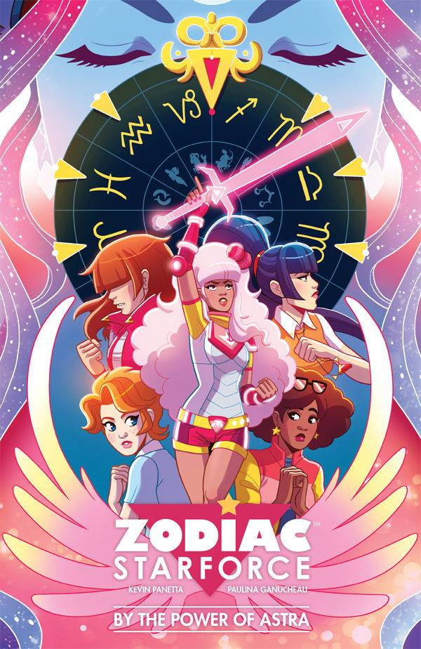 Zodiac Starforce TP Vol 1 - Sarah's PickThis book is a perfect pick for anyone who grew up watching Sailor Moon and wished they were also destined to acquire magical astrological powers to fight the forces of evil. As with many magical-girl stories, this tells the tale of a group of high school friends who have to band together to ward off the nefarious entities that threaten their lives. Paulina Ganucheau's (Another Castle) art is fun and energetic, utilizing vibrant colors and unique designs to give each character a distinct style and personality while Kevin Panetta (Steven Universe) manages to balance humor and heart to make this and entertaining read for all ages.