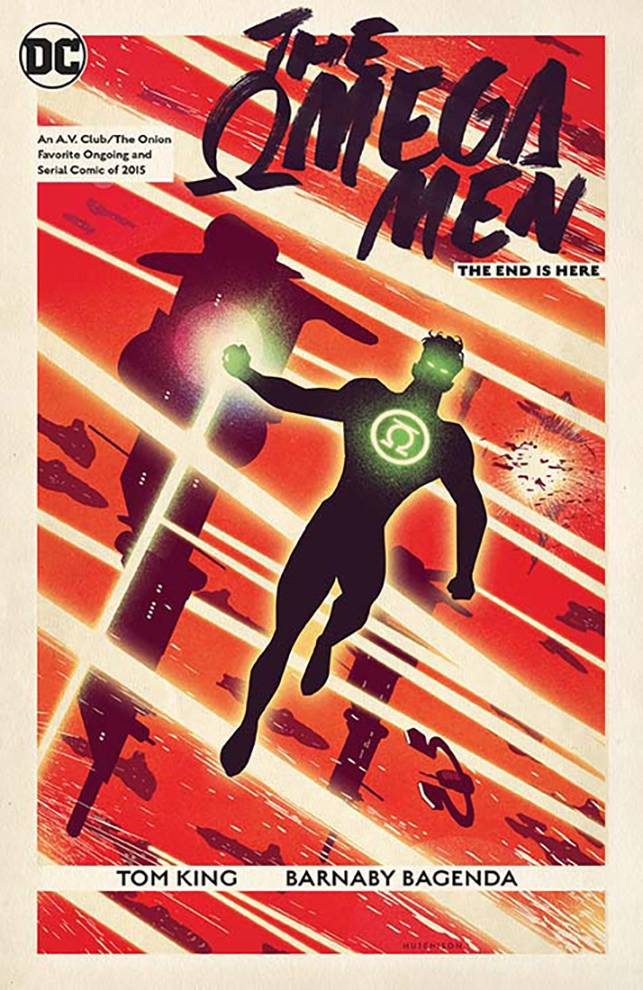 The Omega Men: The End is Here TP - Mike's PickWriter: Tom KingArtist: Barnaby Bagenda with Toby Cypress and Ig GuaraWith Mister Miracle, Tom King became a must read writer for me.  So, to that end, I picked up the TPB of his miniseries, Omega Men: The End is Here, that he and Barnaby Bagenda (Planet of the Apes/Green Lantern) collaborated on in 2016.  King and Bagenda (along with some fill in art along the way) take the barebones of these existing characters and reinvent them in a sci fi political allegory about terrorism that's morally ambiguous while still being entertaining.  The Omega Men are terrorists or freedom fighters, depending on whom you ask.  They are fighting against the Citadel, the entrenched rulers of the Vega system.  The story begins with White Lantern Kyle Rayner being captured by the Omega Men for propaganda use in their insurgency effort.  There are plots within plots here and King explores our modern sociopolitical landscape through the distancing effect of a space opera fantasy.  The scripting is tight with formal elements that hearken back to the work of Alan Moore.  Bagenda's soft but kinetic artwork gives the proceedings a sleek and dreamy flavor.  This is a very dark and heavy story that asks questions that don't necessarily have answers.  Though it uses existing characters and is firmly planted in the current DCU, it is entirely self-contained and requires little to no knowledge of said characters or universe.  Tom King is proving to be a writer of smart, philosophical, and complex tales that are both personal and uncompromising.  Omega Men: The End is Here is well worth your time for its efforts to do something different with the superhero genre.
