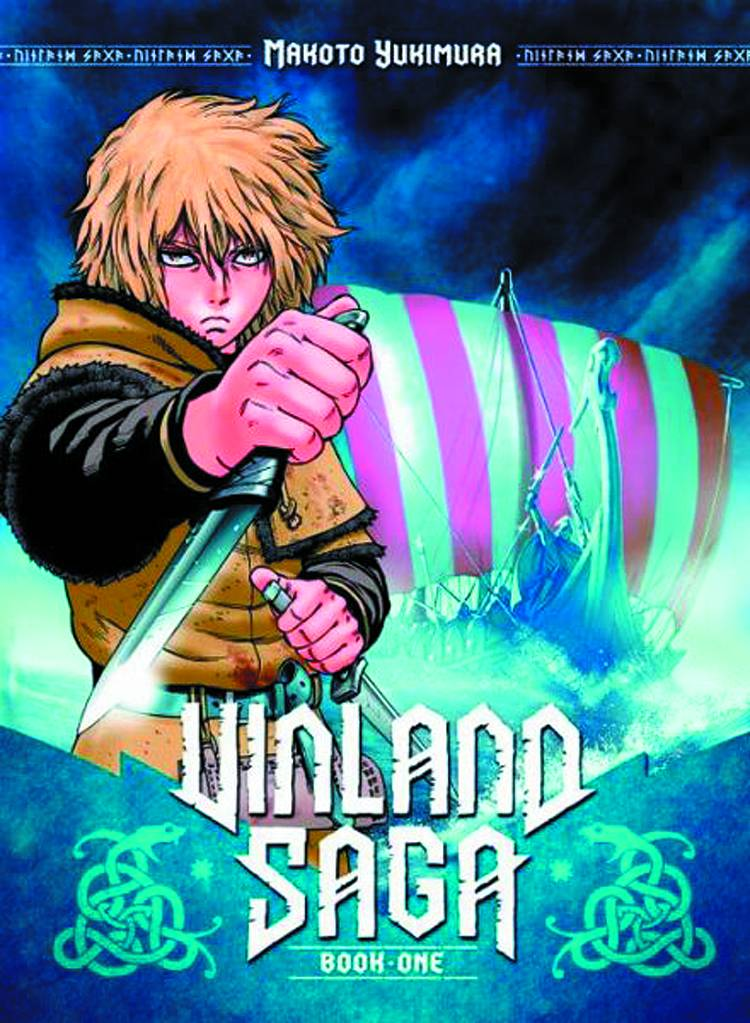 Vinland Saga GN Vol 1 - Trish's PickWriter/Artist: Makoto YukimuraTaking place during the Viking invasion of England in 1013 AD, Vinland Saga is a manga comprised of both fictional and historically accurate elements that blend together seamlessly. The story follows the quest of the historical Icelandic explorer, Thorfinn, as he seeks vengeance for the murder of his father and inadvertently gets wrapped up in the dawning of King Cnut the Great's rise to power. Not only is the story consistently intriguing as you become further entangled in the bloody drama of this saga, but you'll learn quite a bit about Viking culture and history as you read! Fans of Lone Wolf and Cub or Berserk should certainly check this out as it spins a tale of revenge and honor that are very reminiscent.