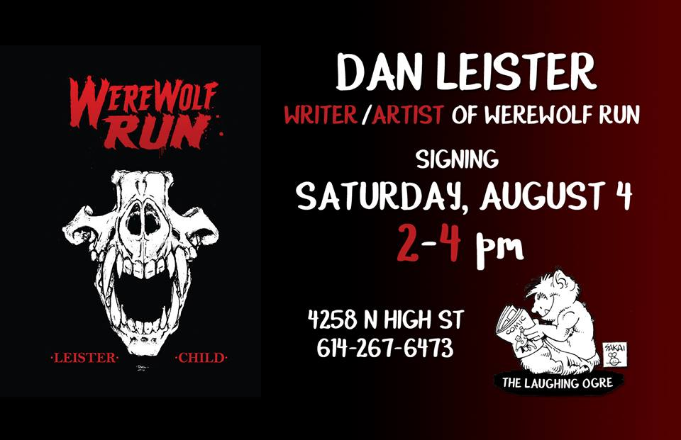 Haven't been able to make it to a signing yet? This Saturday is your chance! Come see Dan Leister on August 4th from 2-4 PM!