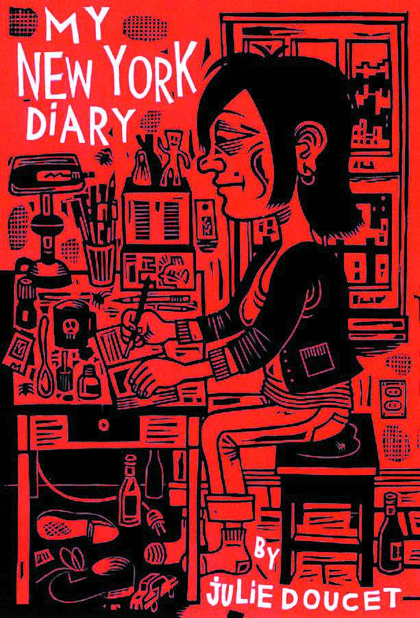 My New York Diary SC - Lauren's PickWriter/Artist:  Julie DoucetFollow iconic underground cartoonist Julie Doucet through the trials and tribulations of life as young artist in her classic graphic novel, My New York Diary. Doucet's claustrophobic environments rendered throughout this comic reflect her state of mind at the time of its creation. Disastrous and absurd situations emerge seemingly from nothing to threaten the main character (Doucet herself) as she struggles to create work while reacting to these external stimuli. One of the most relatable arcs found within this story depicts Doucet dealing with a boyfriend threatened by her growing success as a cartoonist. As she attends events and finds an audience among the most popular independent artists of the day, he becomes increasingly resentful and determined to pull her off course. I think it's a scenario that many women will recognize if they've found themselves outshining an unsupportive partner at any time in their lives! Julie Doucet is an institution and this comic is amazing. Read it!