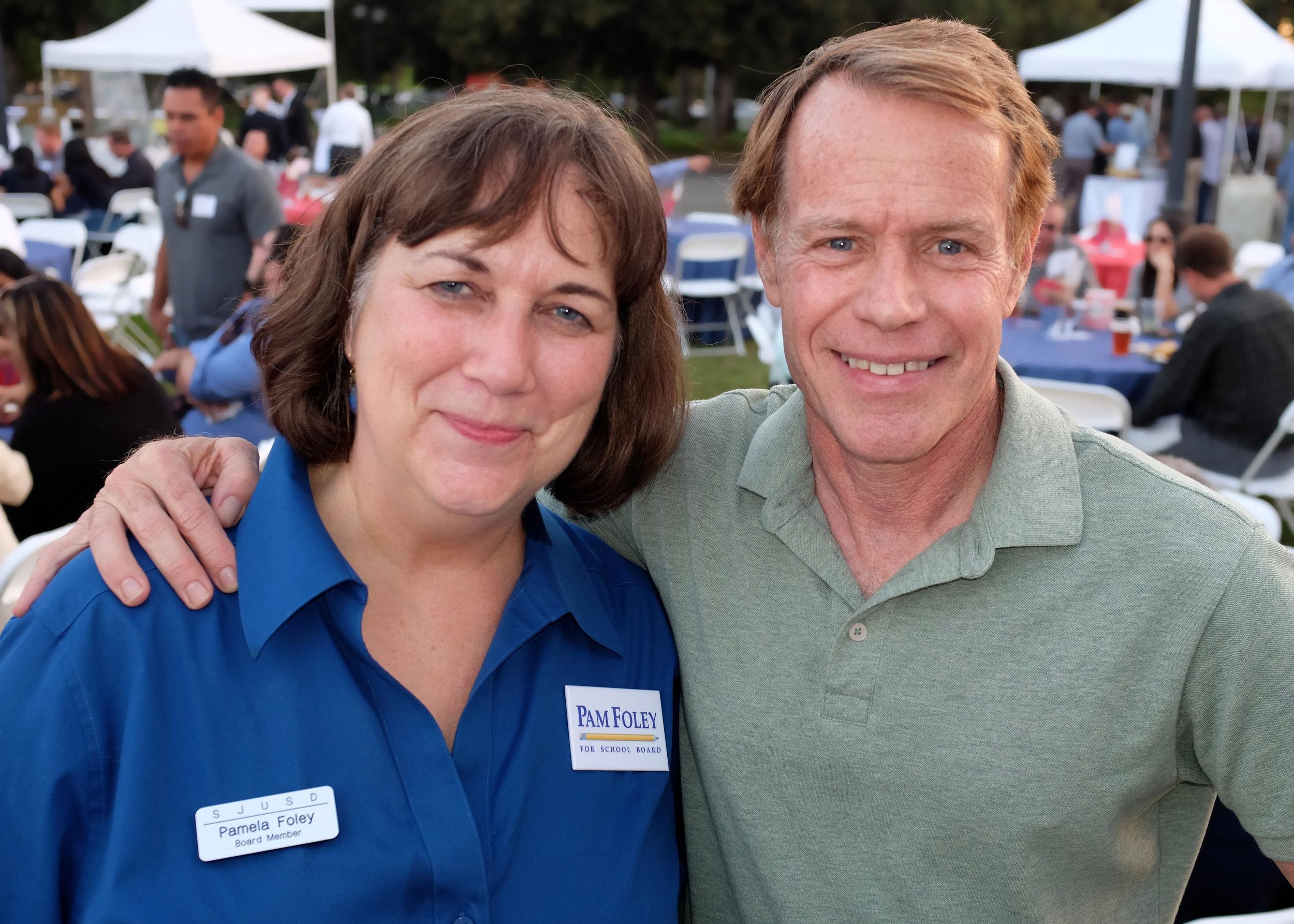 Pam & Supervisor Ken Yeager